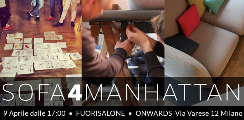 Berto al Fuorisalone Milano con il progetto di crowdcrafting  #sofa4manhattan