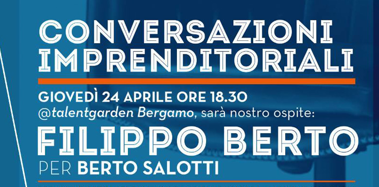 Filippo Berto al Talent Garden di Bergamo