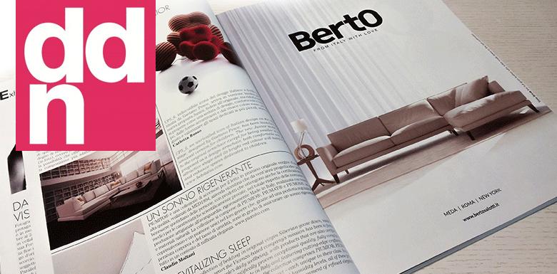 Il divano time break berto nel numero 209 della rivista ddn