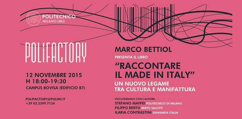 Raccontare il Made in Italy al Polifactory