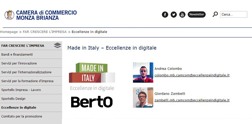 BertO a Monza per Eccellenze in Digitale