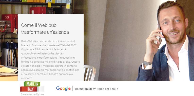 Filippo Berto nel programma Eccellenze in digitale di Google