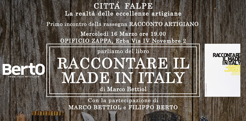 evento opificio zappa raccontare il made in italy
