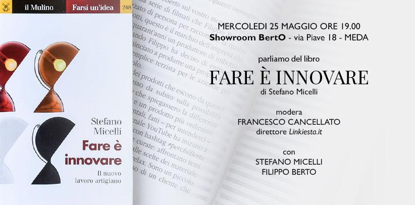 Stefano Micelli presenta il suo libro Fare è innovare nello showroom BertO di Meda