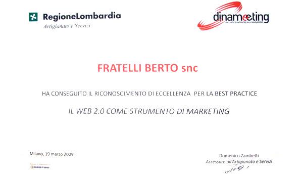Berto premiato nel progetto Dinameeting