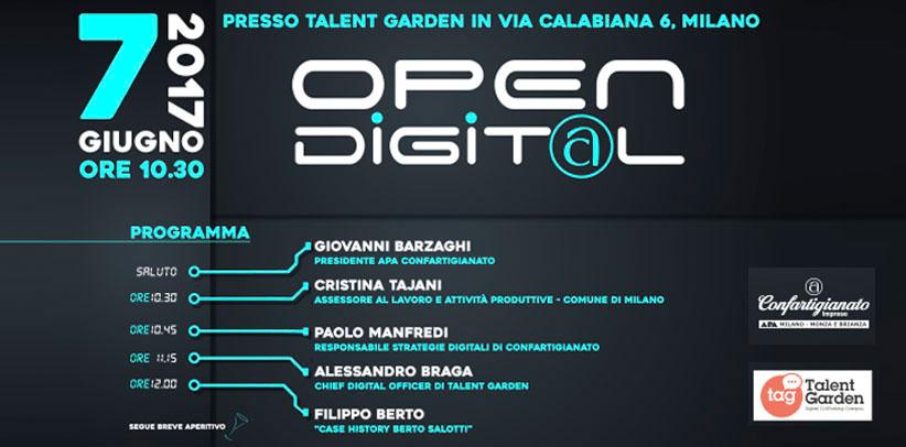 Filippo Berto alla presentazione di Open Digital