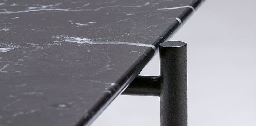 tavolino da salotto riff con piano in marmo
