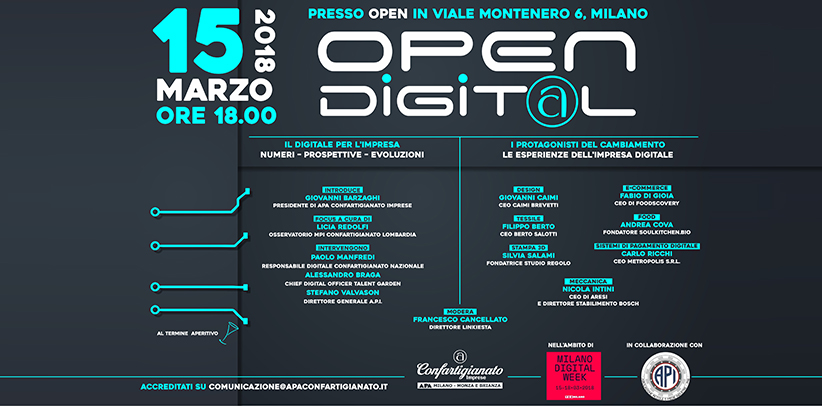 Filippo Berto e Open Digital alla Milano Digital Week