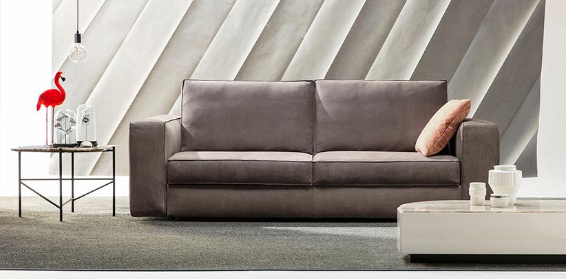 Divano letto nemo in pelle nabuk blonde idrorepellente - Il miglior divano letto ...