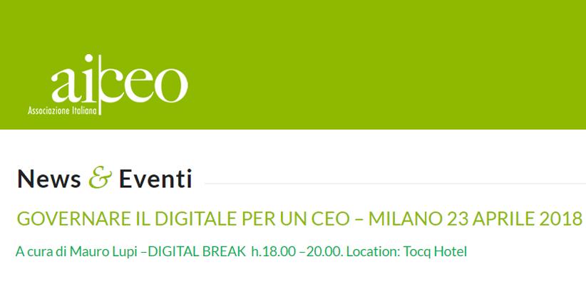 Filippo Berto all'associazione italiana CEO