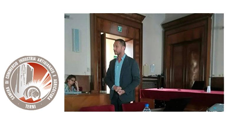Filippo Berto alla Camera di Commercio di Terni