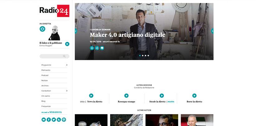 Filippo Berto artigiano digitale intervistato a radio 24