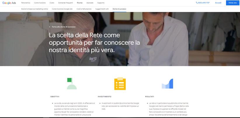 BertO caso studio italiano secondo Google