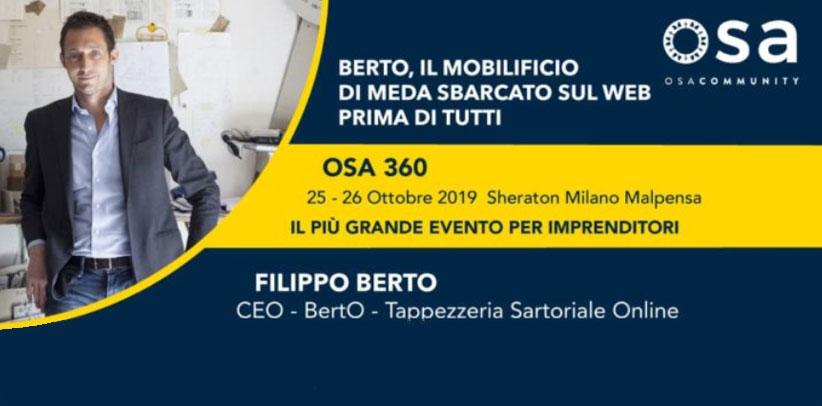 Filippo Berto speaker a osa360 malpensa