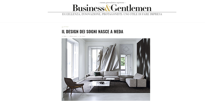 Il Made in Meda di BertO sul sito businessgentlemen.it
