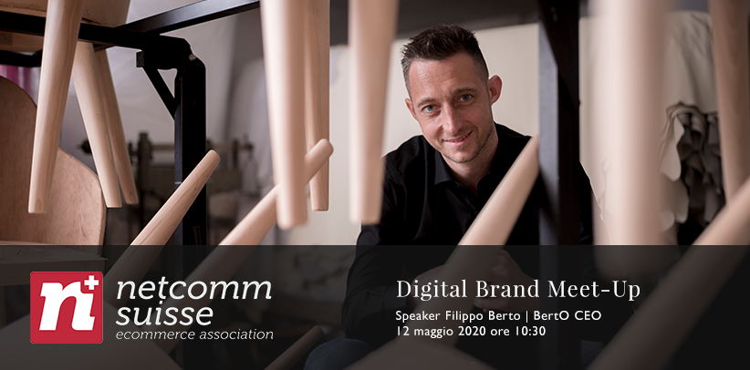 Filippo Berto, CEO BertO, presenta l'azienda caso studio per il design e il life style al meet-up di netcomm suisse