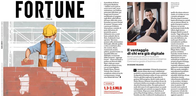 il business online e il design di berto sulla rivista fortune italia