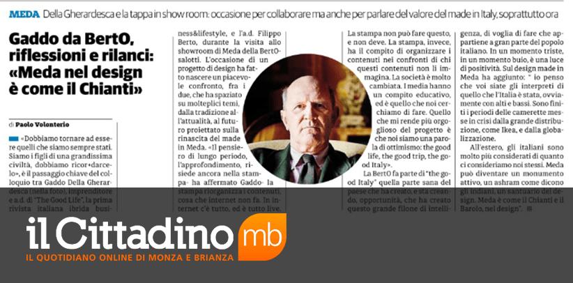 BertO  made in meda e Gaddo Della Gherardesca su Il Cittadino