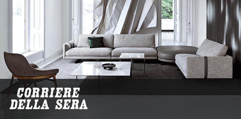 Il nuovo divano Dee Dee è il protagonista della Collezione BertO 2020 sul Corriere della Sera