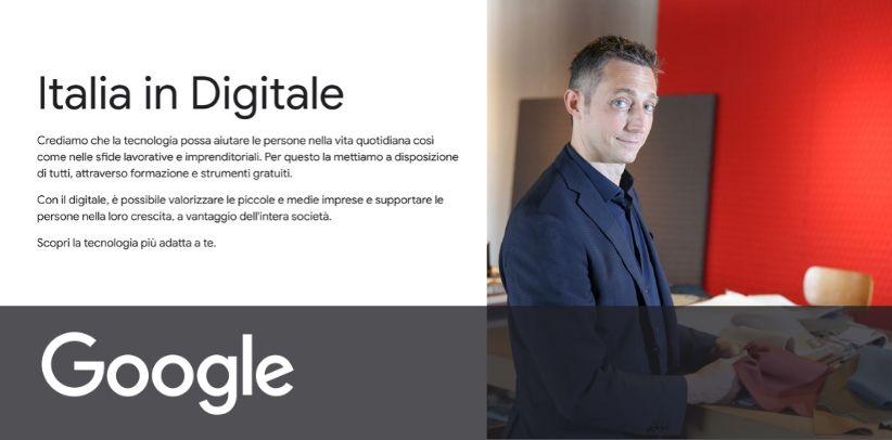 berto è testimonial google nel nuovo progetto italia in digitale