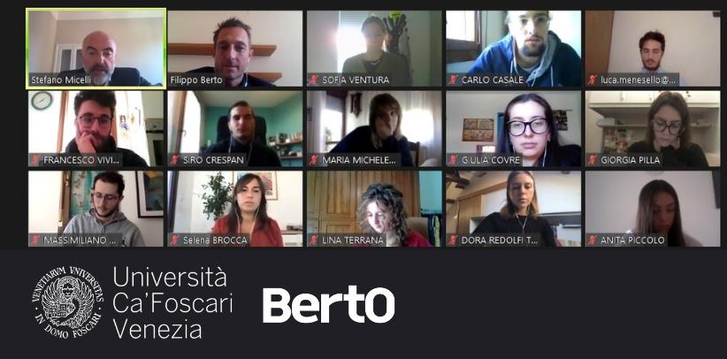 Filippo Berto racconta il caso studio berto e spiega il made in meda agli studenti dell'università ca foscari di venezia
