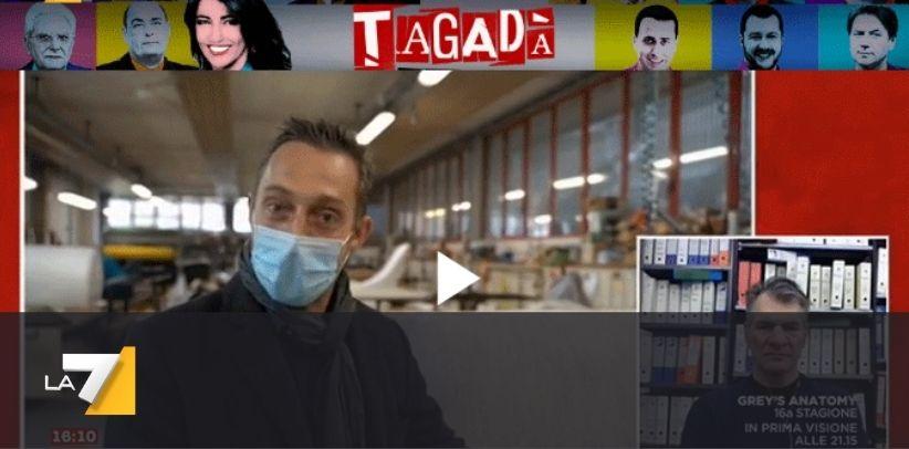 Filippo Berto intervistato sul tema Covid nella trasmissione Tagadà su La7