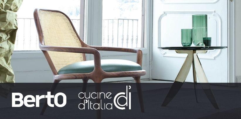 poltrona patti e libreria Ian presentate nella rivista cucine d'italia