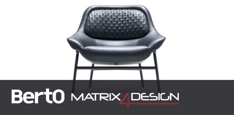 poltrona hanna di berto con dyloan protagonista dell'articolo di design4matrix