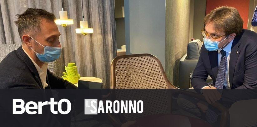 L'Articolo de il Saronno sulla visita dell'Assessore Guidesi allo Showroom BertO