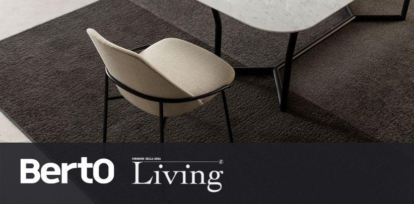 Sedia di design Jackie BertO su Living Corriere della Sera