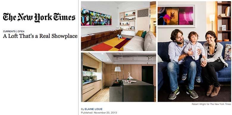 Design Apart - living showroom sul New York Times