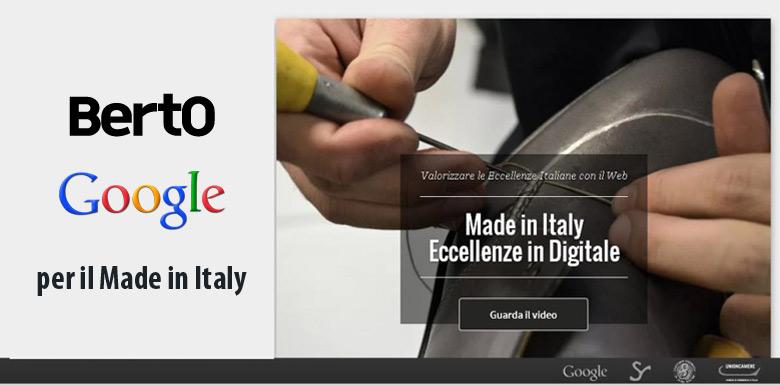 Il Made in Italy promosso da BertO e Google