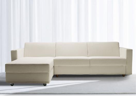Divano letto con penisola contenitore Aurora - Berto Salotti