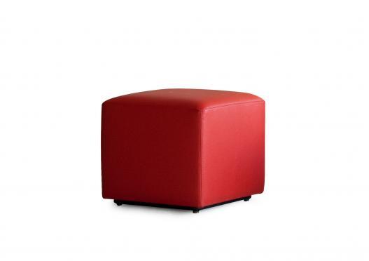 Pouf Rosso Ecopelle Cobalto Outlet : Pouf cubo eco berto salotti