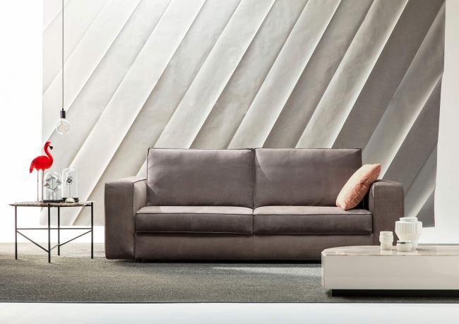 Sofa divano letto reclinabile salotto microfibra bianco posti