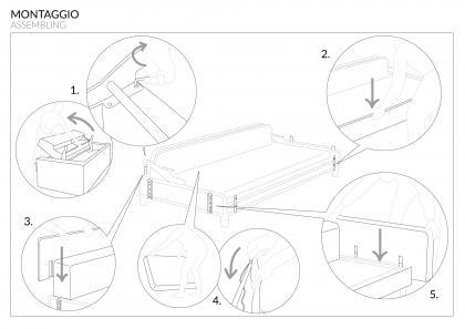 divano letto nemo 18 con materasso alto 18 cm - berto salotti - Divano Letto Matrimoniale Memory