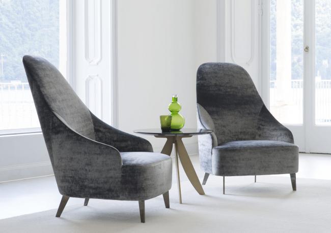 Sedie Schienale Alto Design : Poltrona con schienale alto vanessa berto salotti