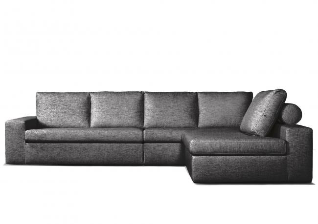 Outlet divano con pouf staccabile berto shop - Divano con pouf ...