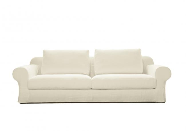 Divano In Lino Bianco : Divano in lino con seduta profonda berto shop