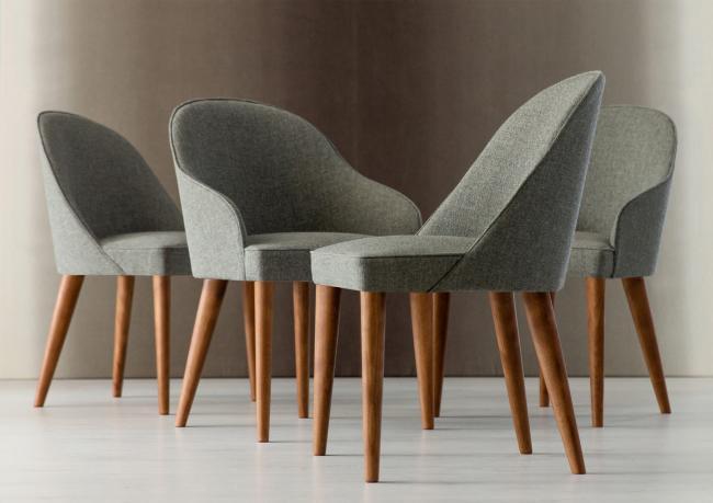 Sedia con gambe in legno judy berto salotti for Sedie moderne economiche on line