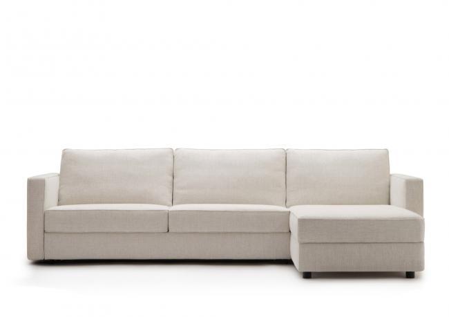 Divano letto con chaise longue su misura berto salotti for Chaise longue divano