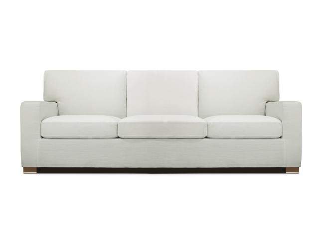 Divano 3 posti in tessuto bianco - BertO Shop