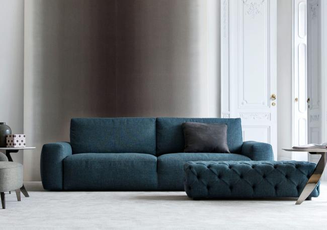 Outlet divano color petrolio johnny berto prima for Divani componibili moderni