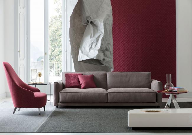 Divani In Pelle Di Design.Divano In Pelle Ribot Berto Salotti