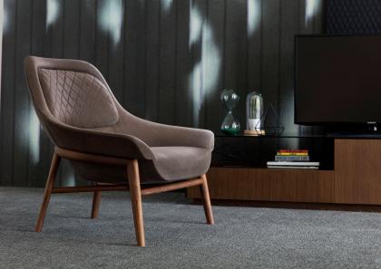 Poltrone Moderne Design : Poltrone moderne in pelle o tessuto berto salotti