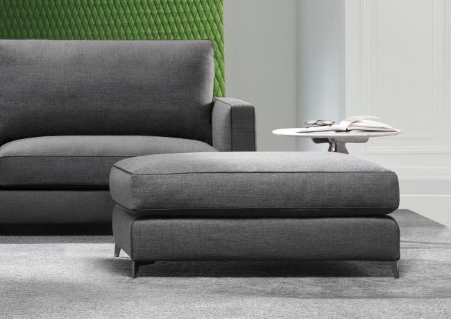 Pouf per divano su misura modello Jimmy - BertO Salotti