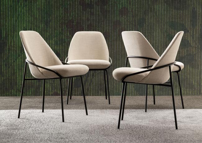 Sedie Con Braccioli Design.Sedia Di Design Jackie Berto Salotti
