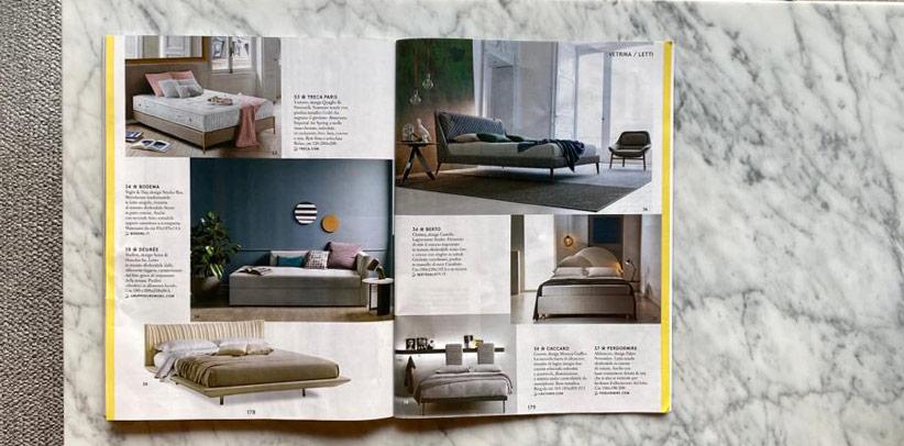 Bed Chelsea - Berto - Magazine Living Corriere della Sera 2020