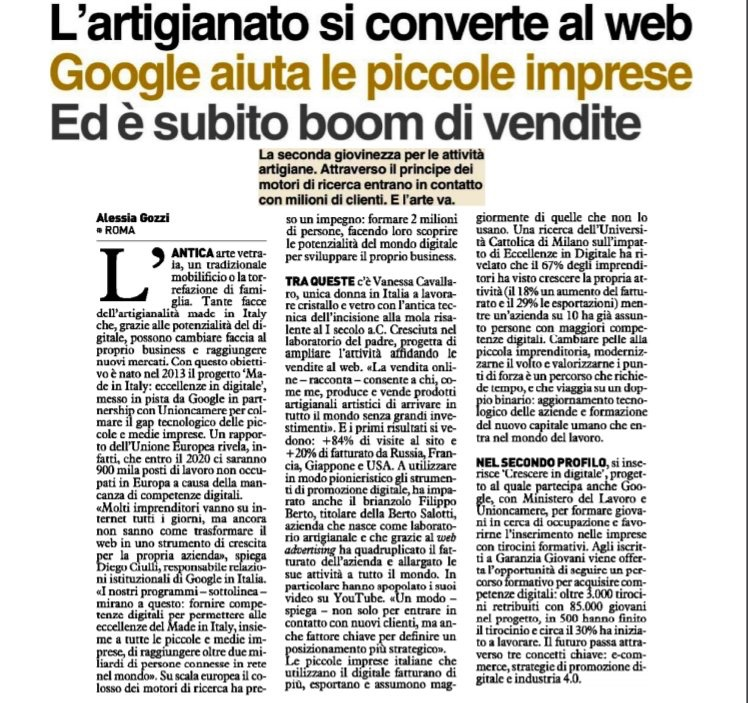 Il caso BertO su Quotidiano Nazionale con google e video youtube