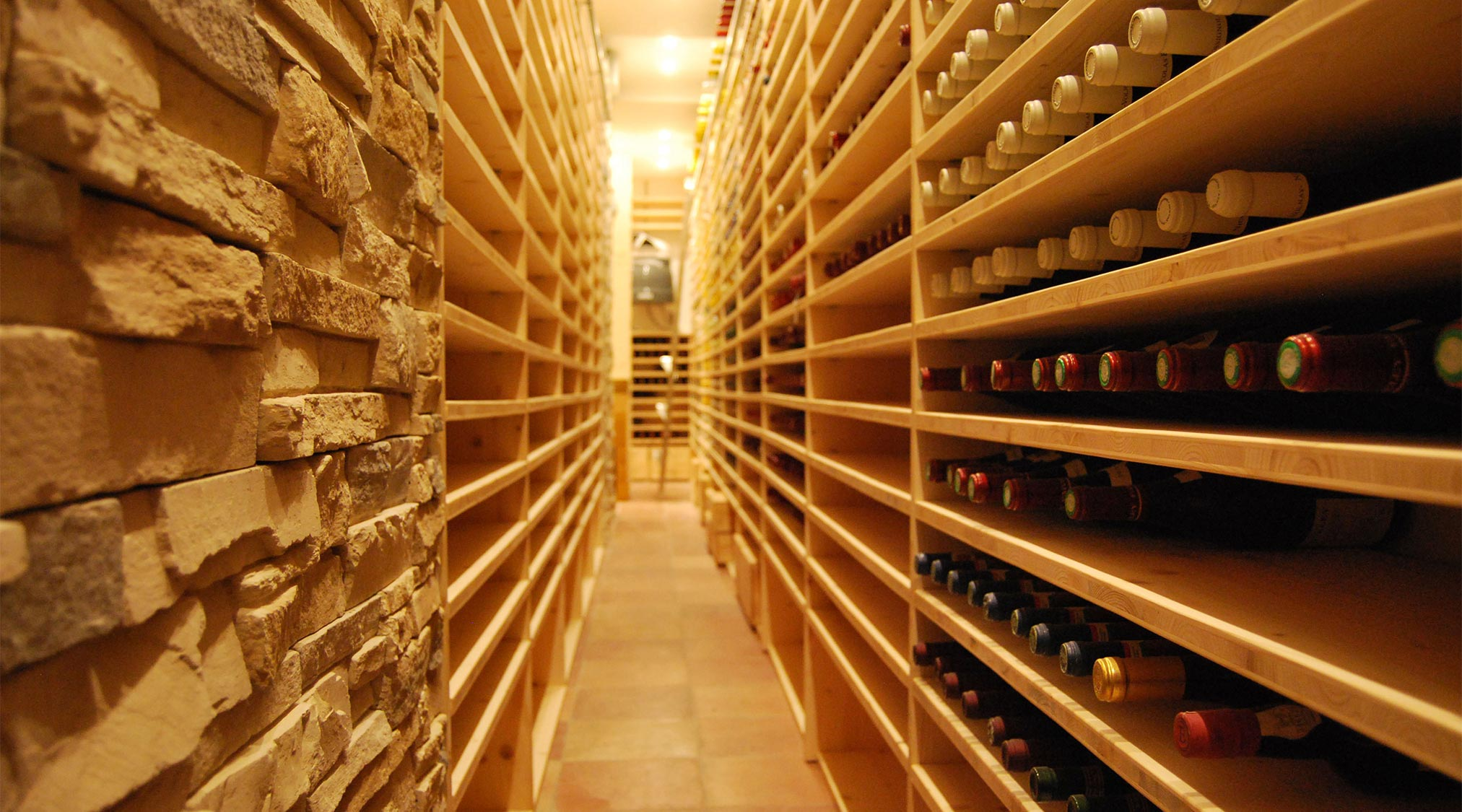 shelves for bottles